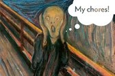 The Scream distressed over forgetting maintenance chores