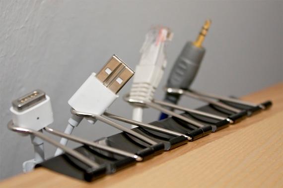 Cable Clips | Pinterest Organization Ideas