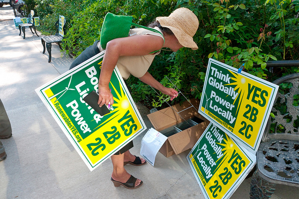 Political yard signs can be recycled
