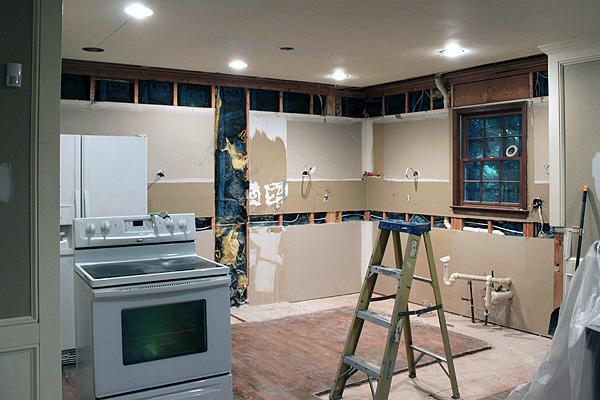 Kitchen undergoing renovations