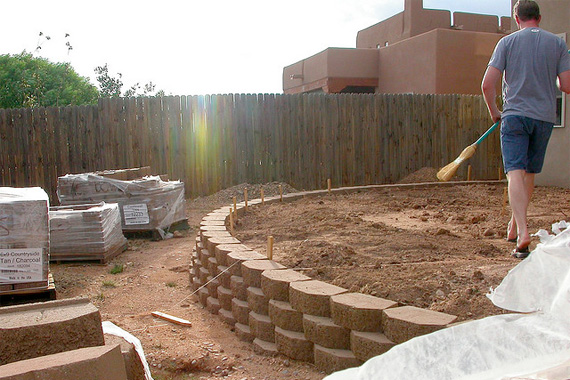 Diy Retaining Wall Backyard :  backyard ideas  Pinterest  Sloped Backyard, Retaining Walls and