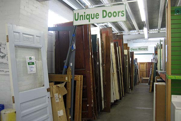 Salvaged building materials shopping advice for Old wood doors salvaged