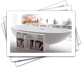 Cool Bathtubs with Built-In Storage