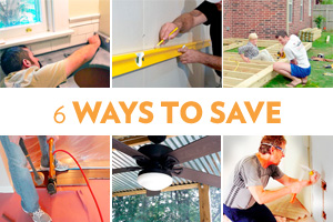 6 DIY projects that will save you money.