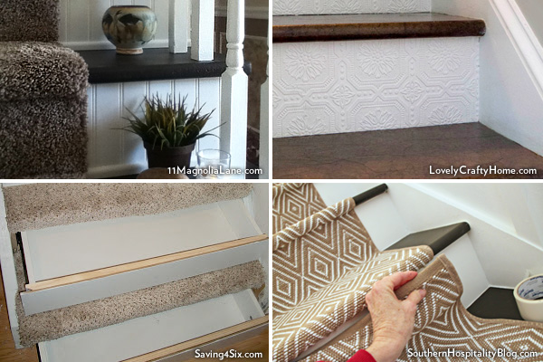 Images from our staircase makeover bloggers
