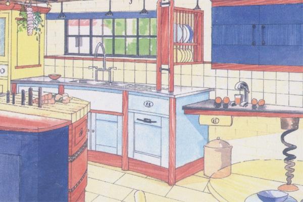 Steve Jobs' kitchen