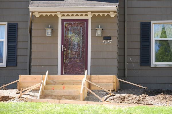 New front porch under construction
