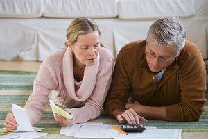 Couple preparing for tax return