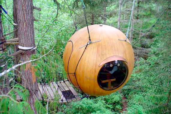 Sphere in the Trees by Free Spirit Spheres | Micro Houses