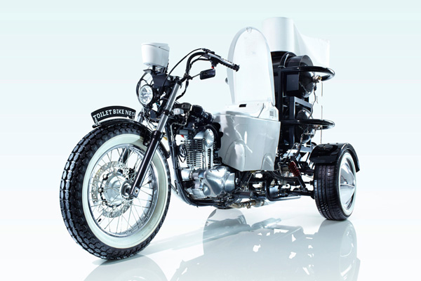 Funny biogas powered motorcycle