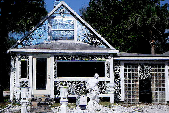 Glass and Mirror Folk Art Cottage in Florida | Ugly Houses