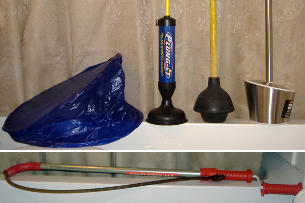 Toilet plungers in the Super Toilet Bowl