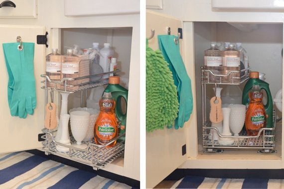Clever solutions for under kitchen sink storage B q diy kitchen design