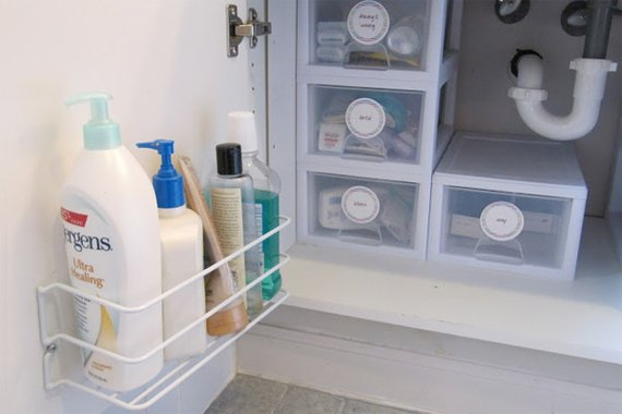 under sink storage bathroom organizer houselogic storage and