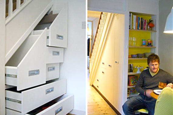 Under stairs storage solutions stair storage houselogic for Under stairs drawers plans