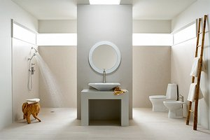 Luxury bathroom with universal design