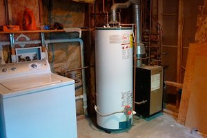 Water heater in laundry room