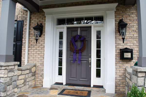 New steel front door on a home
