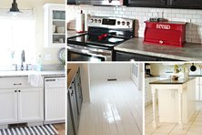 Several white kitchen makeover projects by bloggers