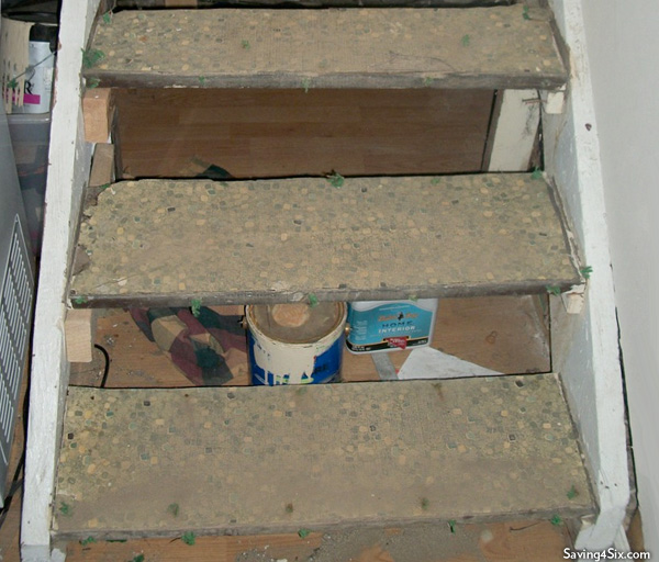 Rotten steps before