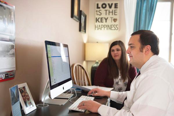 Homeowners preparing their taxes