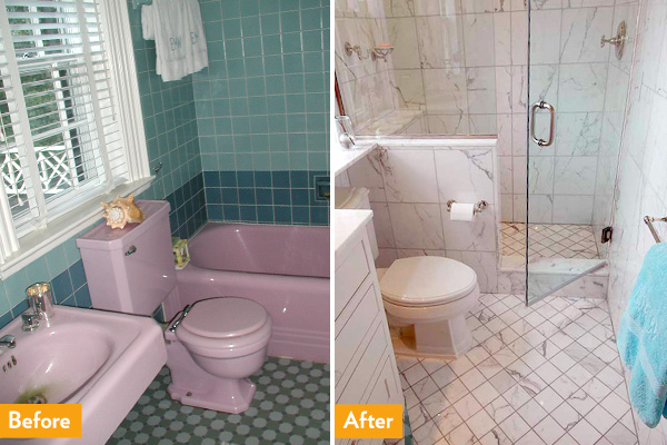 Old Bath tub to Walk-In Shower Conversion
