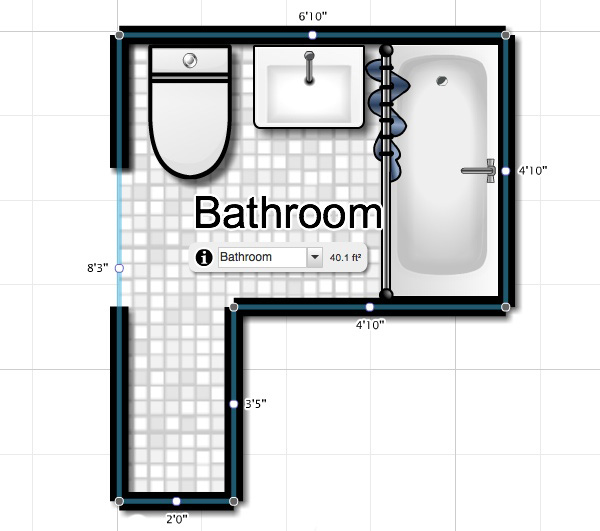 Sketch Of Bathroom Layout