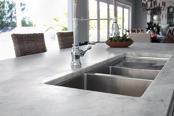 Dark marble countertop