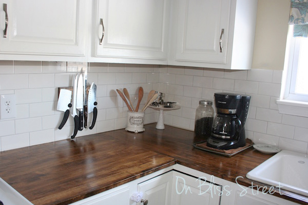 Charming Waterproof Wood Kitchen Counter
